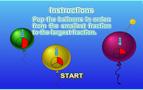 Igra razlomci baloni