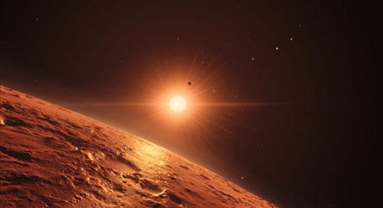 Trapisst 1, sustav sedam egzoplaneta